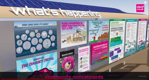Community norticeboard + map