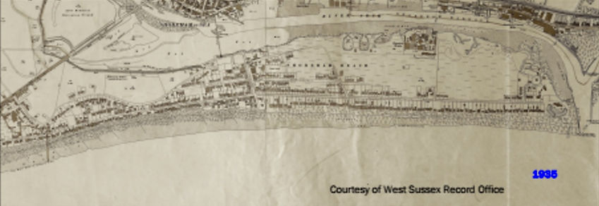 shoreham beach vintage map