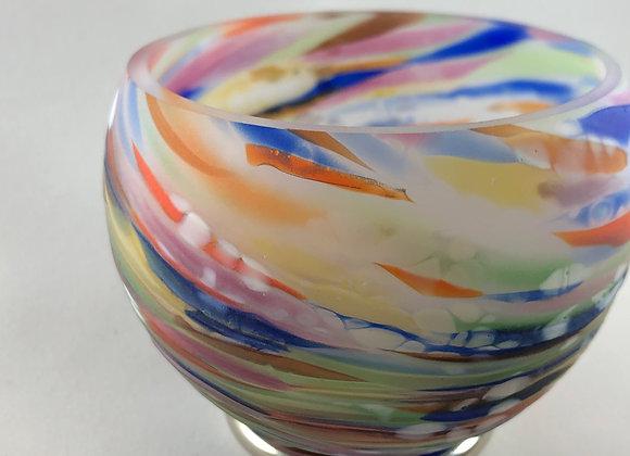 Handblown Glass Tea Light Holder