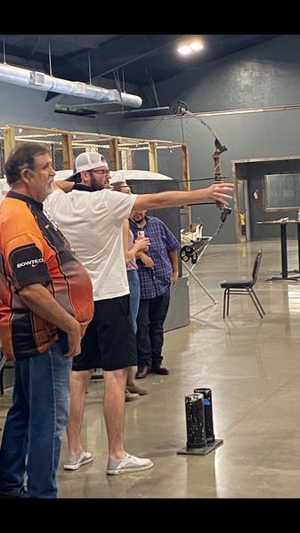 Archery at Cinnamon Creek Ranch, a team building event.