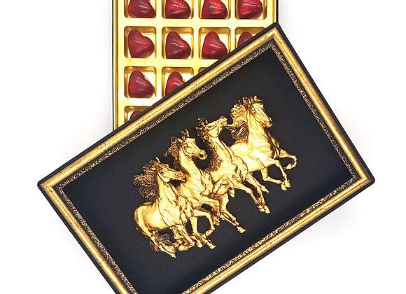 Kabartmalı Çerçeveli  Özel Kutuda Çikolata