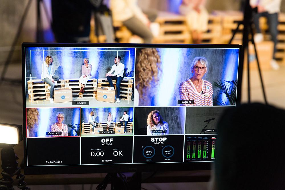 Ein Blick hinter die Kulissen des Livestreams bei Hanseatic Help produziert von fäis.