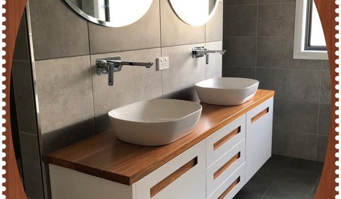Vanity with Timber Inserts