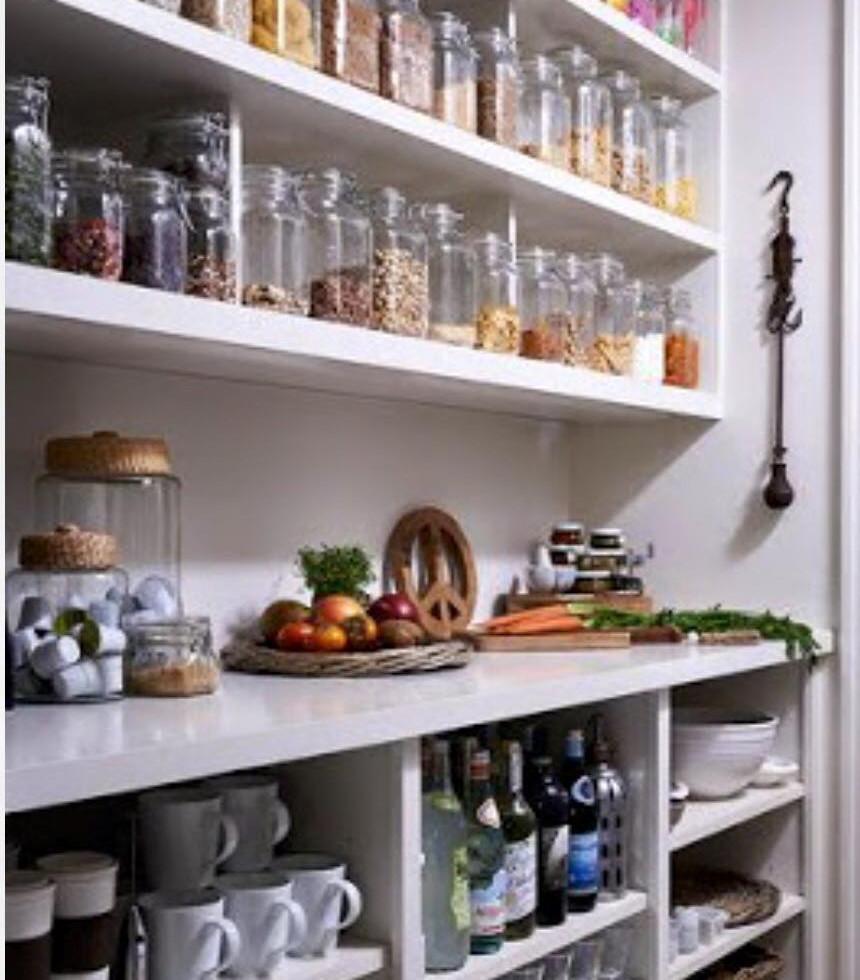 Open Shelving Pantry