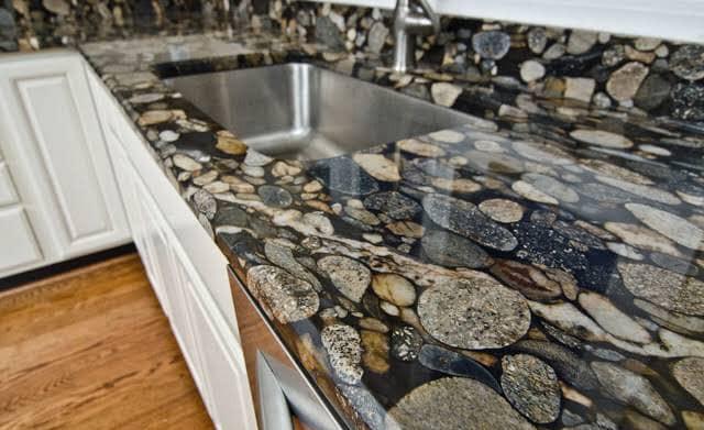 Granite Benchtop River Stone