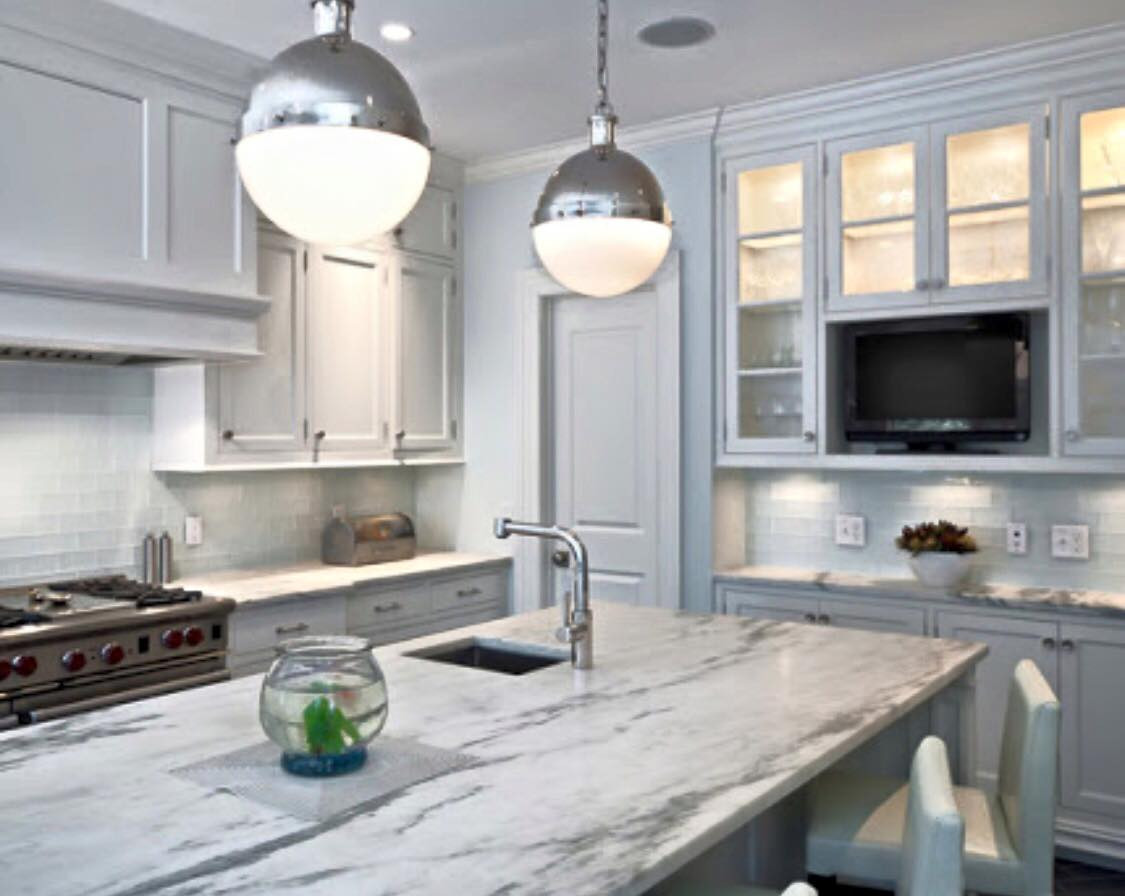 2 Pac Painted Shaker Kitchen with Stone Benchtop