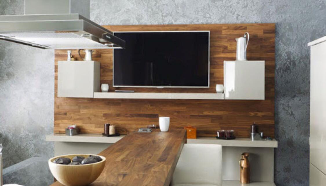 Timber Feature Insert with TV Cabinet