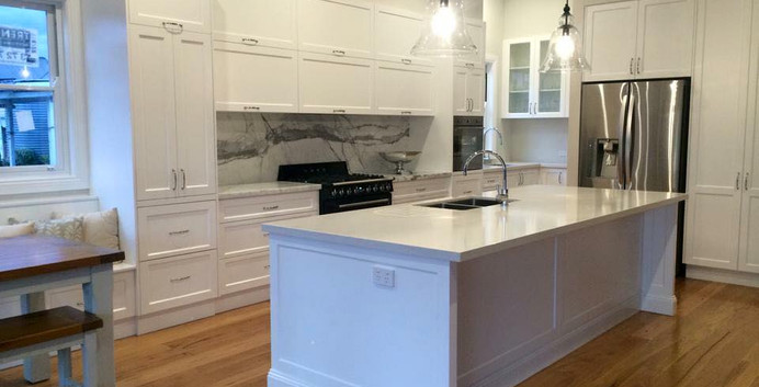 2 Pac Painted Kitchen with Island
