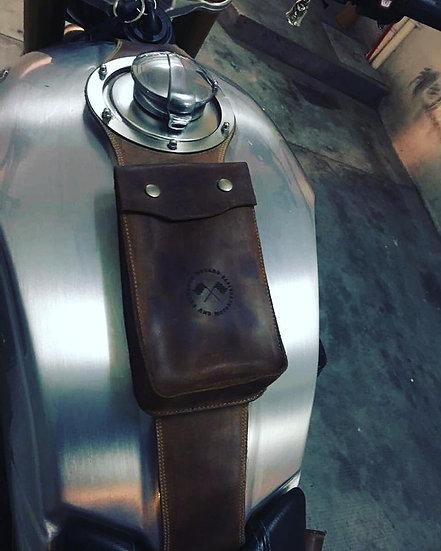 Corbata de Depósito BMW Marrón Africano /BMW Leather Strap