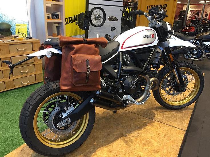 Mochila Alforja Grande Marrón Óxido / Oxid Brown Large Backpack Saddlebag