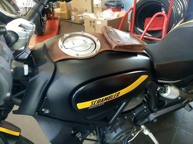Corbata de Depósito Ducati Scrambler Marrón Africano / Ducati Leather Strap
