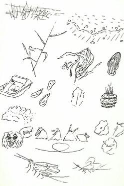 Sketch Page - Au Gres Beach
