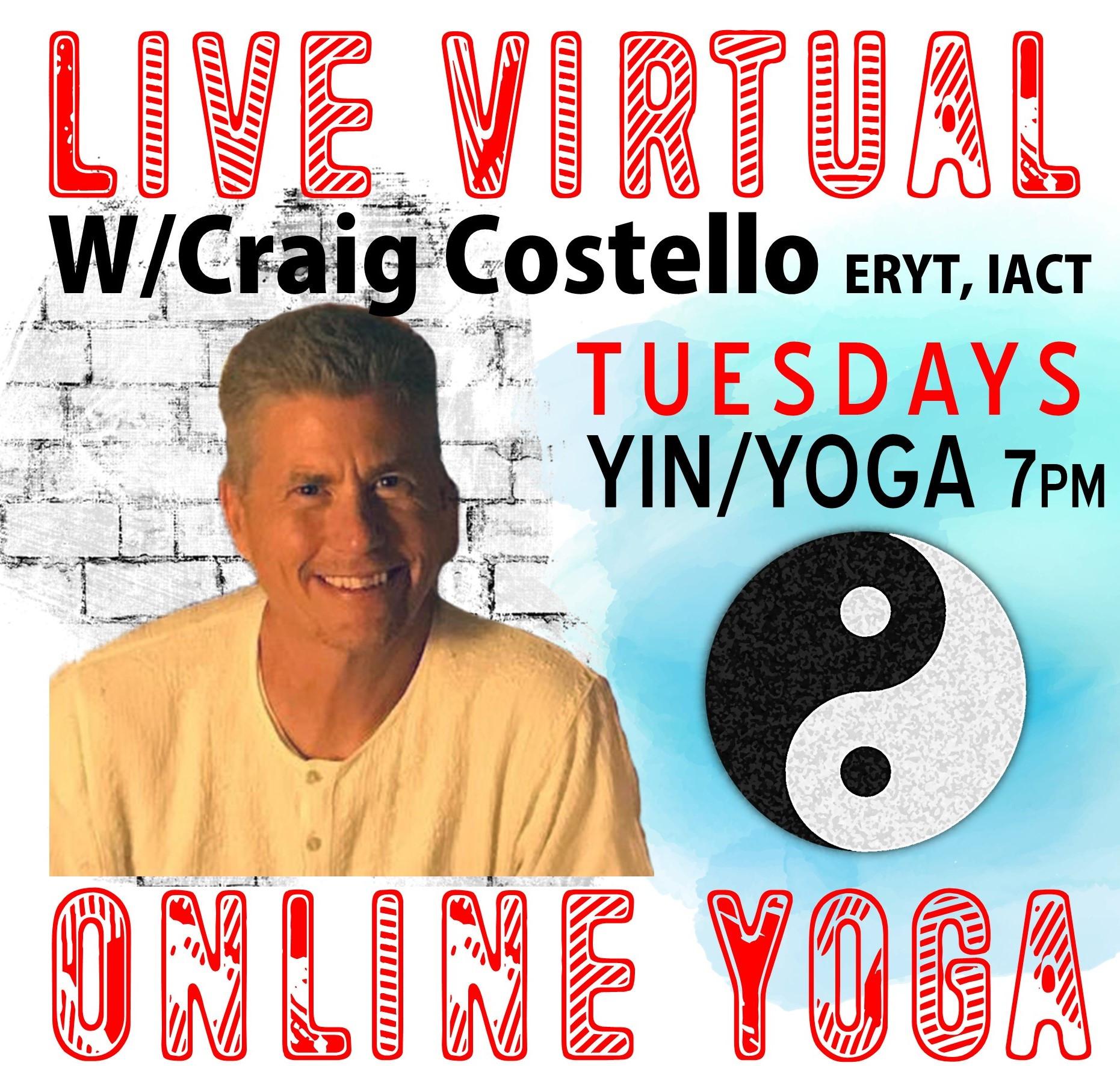 Yin Yoga W/Craig Costello