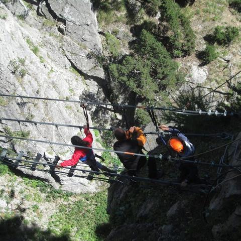Ponte Tibetano e Ferrata Clari