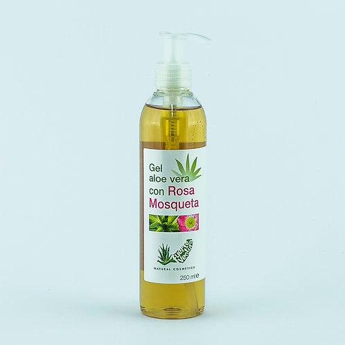 Gel Aloe Vera Puro con Rosa Mosqueta. 250 ml.