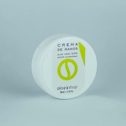 Crema de Manos Áloe Vera 50%