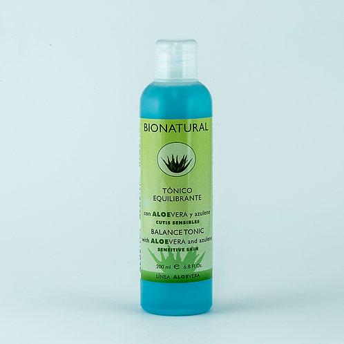 Tónico equilibrante con Aloe y Azuleno. 200 ml.