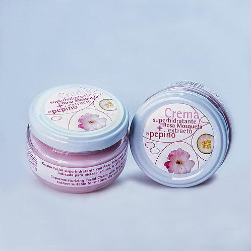 Crema de Rosa Mosqueta, Pepino y Aloe Vera 120 ml