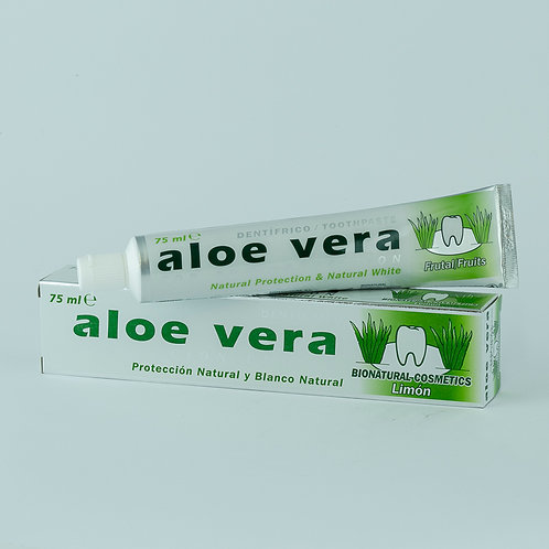 Dentífrico Aloe Vera Sabor Limón 75 ml.
