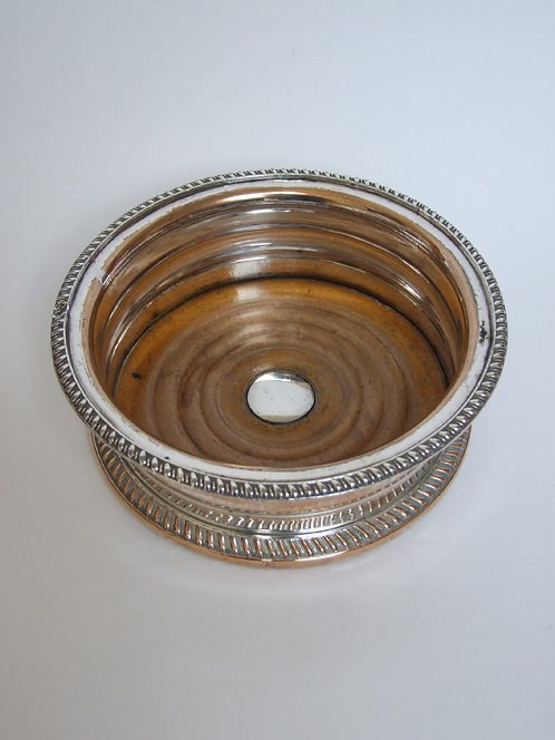 An attractive Regency period silver plated coaster