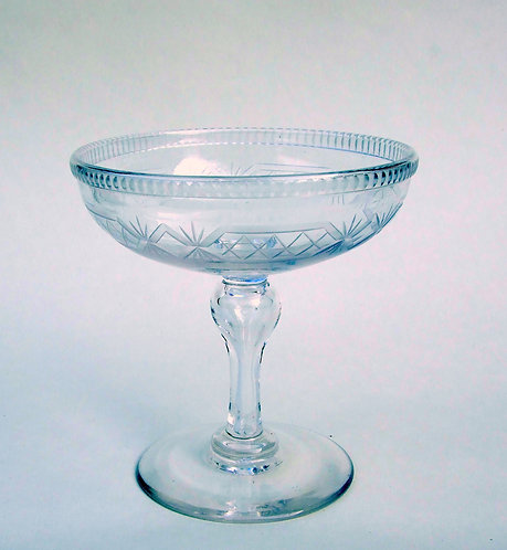 A charming Victorian cut glass sweetmeat stand
