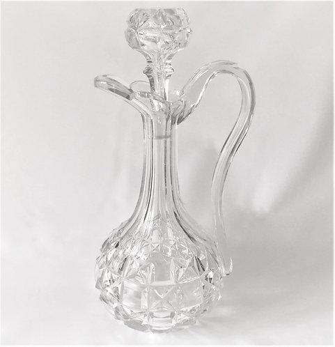 A fabulous Victorian cut glass claret jug