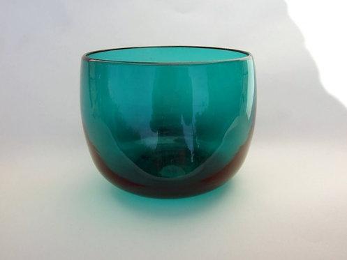 A Victorian aqua green finger bowl.