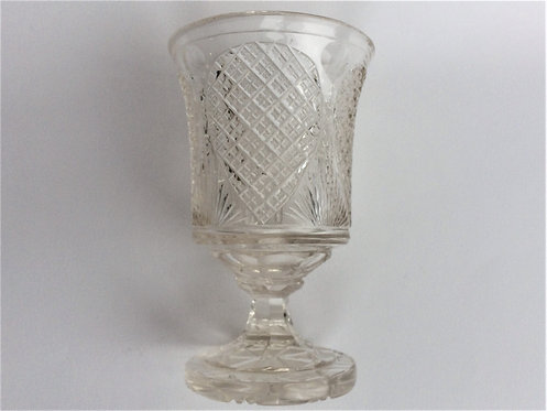 A large Edwardian cut glass rummer.