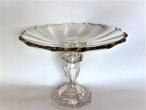 A superb French cut glass tazza.