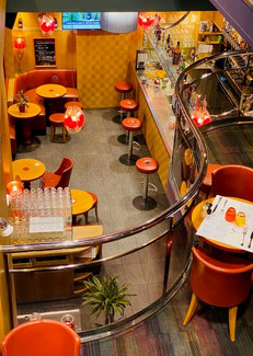 Vue de la mezzanine Sofa Café