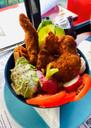 Rice bowl du jour au poulet croustillant