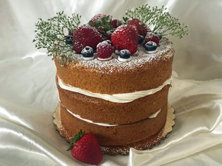 Naked Anniversary Cake