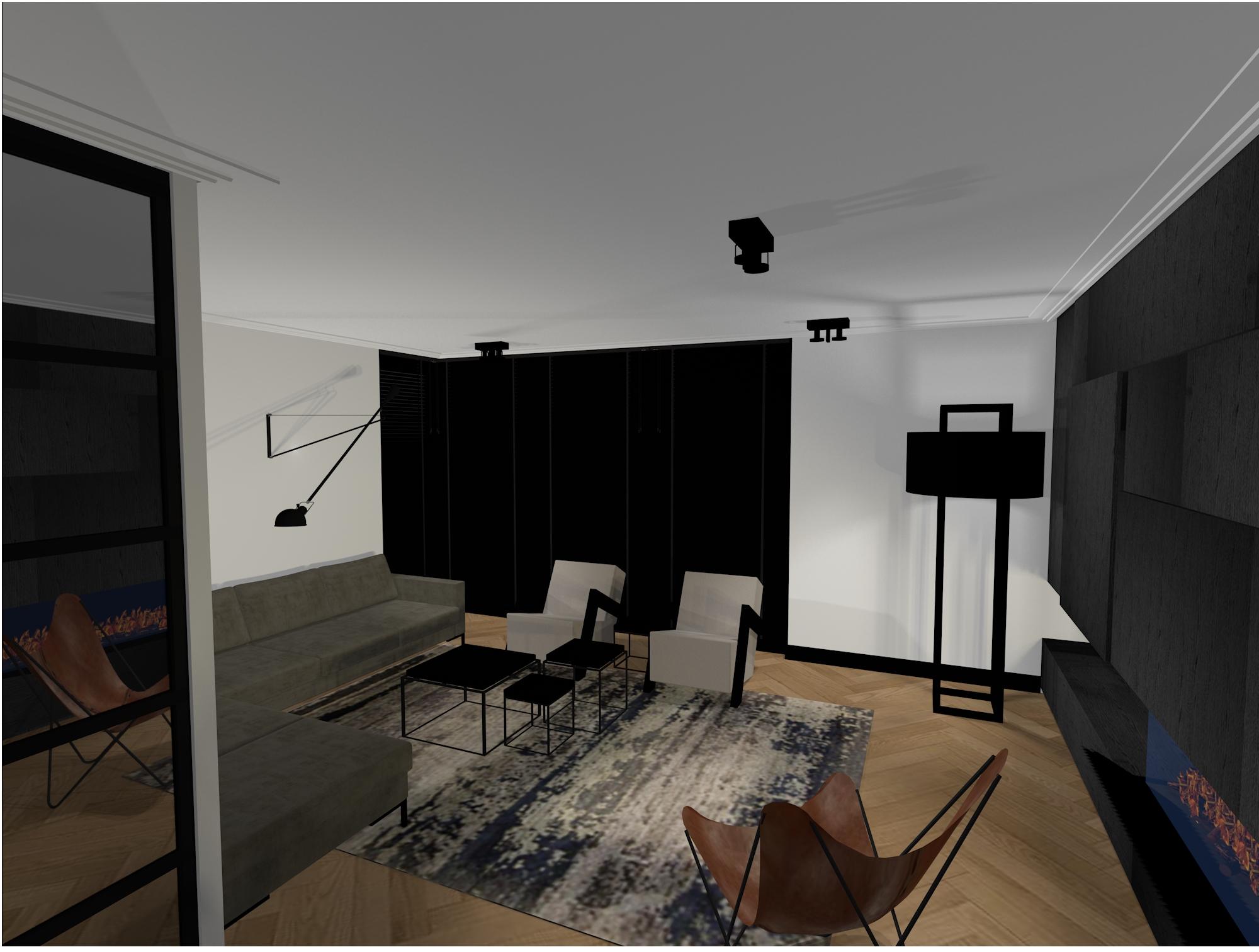 3D sfeerbeeld woonkamer