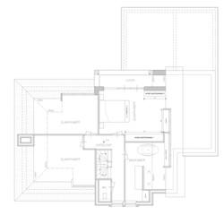 Ontwerpplattegrond verdieping