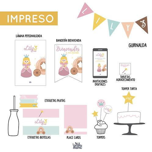 PARTY KIT IMPRESO - PRINCESA