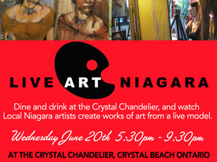 Live Art Tonight at The Crystal Chandelier
