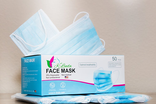 150 Disposable Face Mask (USA, Ship Within 1 Business Day)