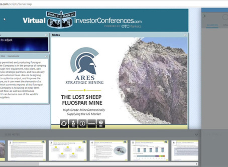Ares Mining Presenting at the Virtual Investor Conferences