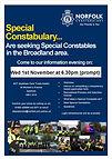 Special Constable Vacancy Poster