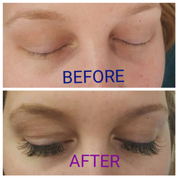 Before and after Classic lashes