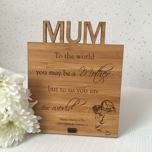 to the world you are a mother plaque