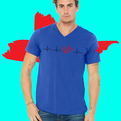 RAD Heartbeat Unisex V-neck