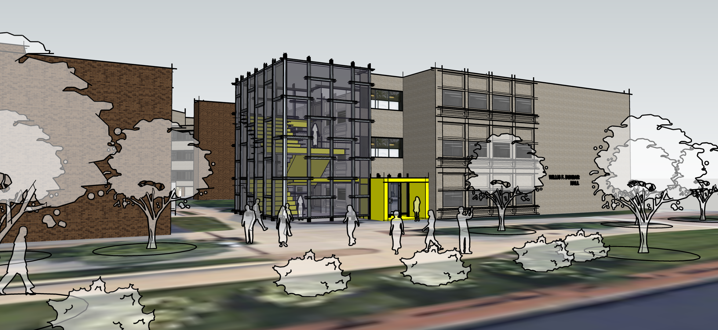 Dunbar Hall - Concept Design option 3.pn