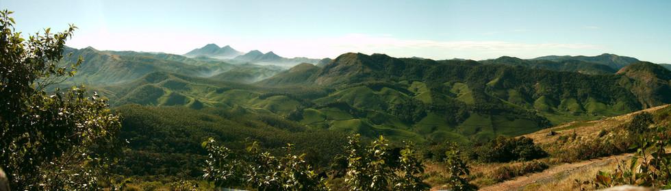 Munnar - Hills around tea plantations