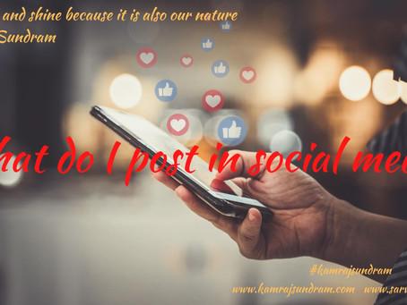 What do I post in social media?