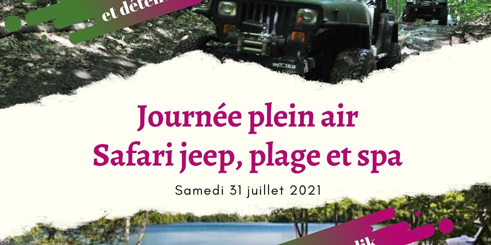 Journée Plein air : Safari Jeep, plage et spa !