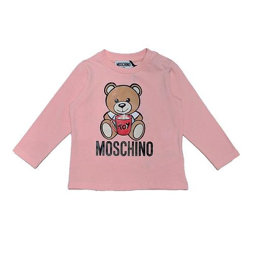 LBA11B/50209 MOSCHINO BABY GIRLS LONG SLEEVE T-SHIRT