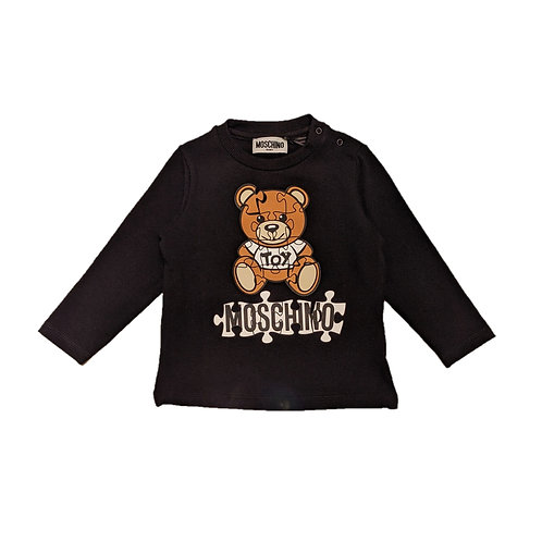 LBA11F/60100 MOSCHINO BABY UNISEX LONG SLEEVE T-SHIRT