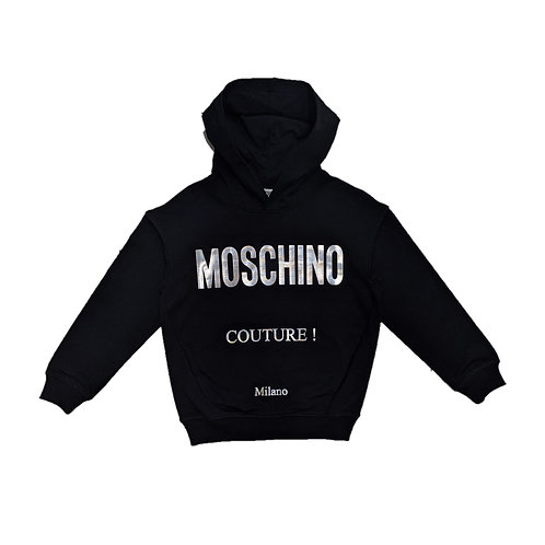 LDA16/60100 MOSCHINO KIDS UNISEX SWEATSHIRT WITH HOODIES
