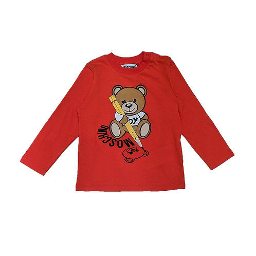 LAA10A/50109 MOSCHINO BABY UNISEX LONG SLEEVE SHIRT